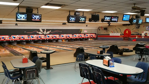 The bowling lanes
