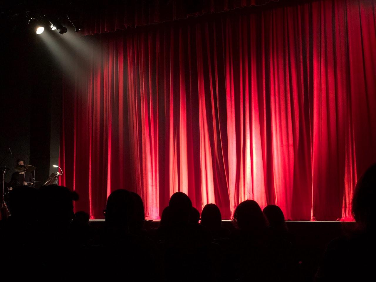 Funny Bone Comedy Club red curtains
