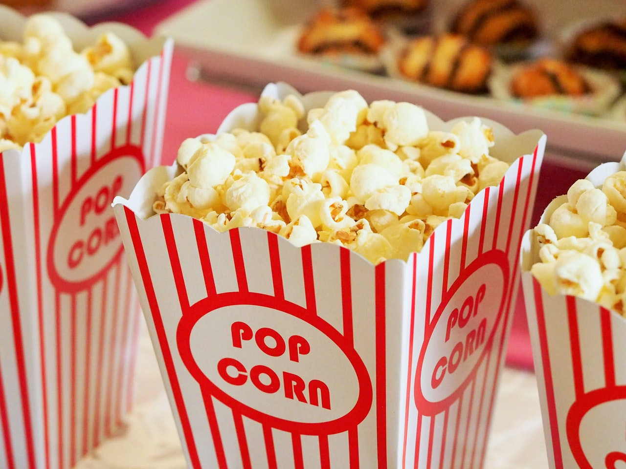Movie popcorn, ready to go