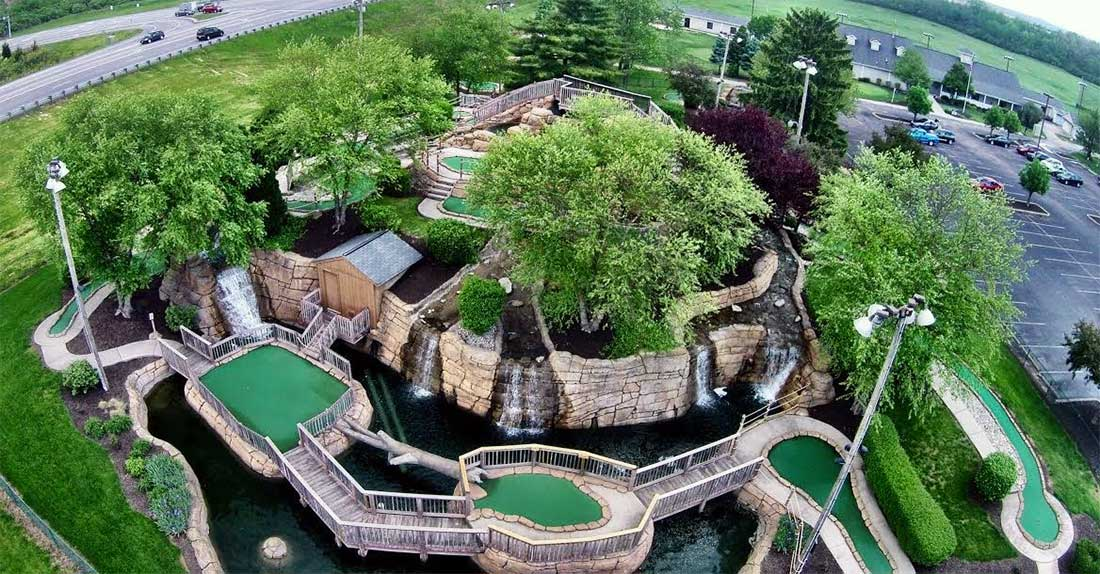 The mini golf course at Fairfield Fun Center