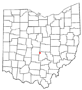 Pinkerington is very close to the center of Ohio
