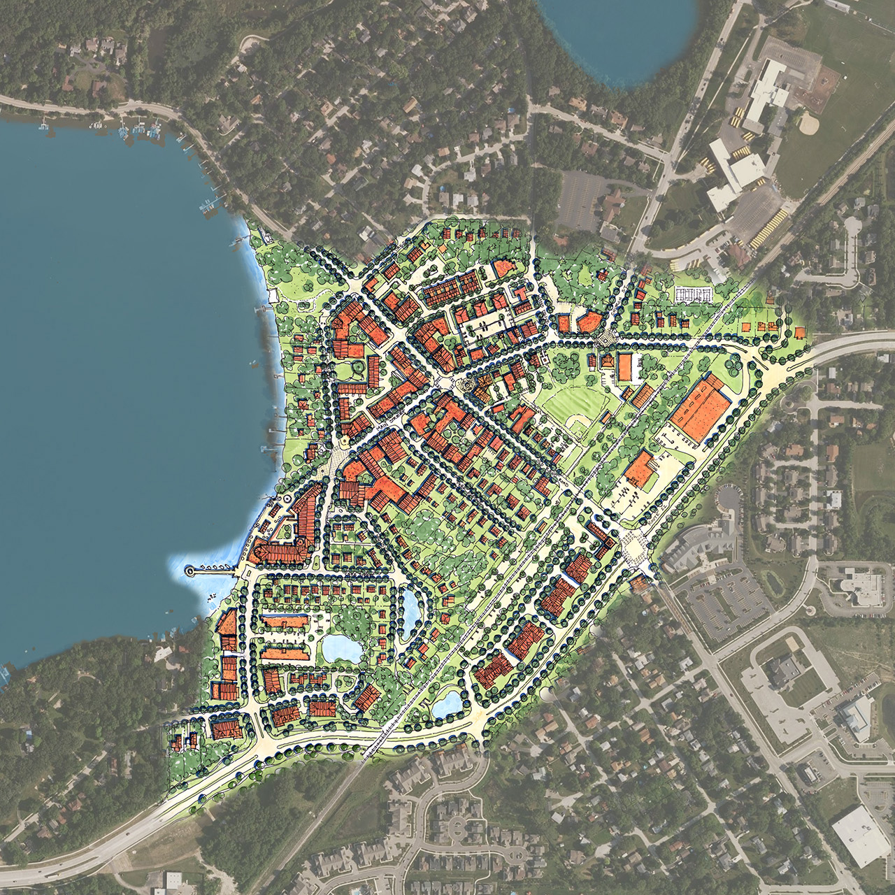 Downtown Lake Zurich Master Plan