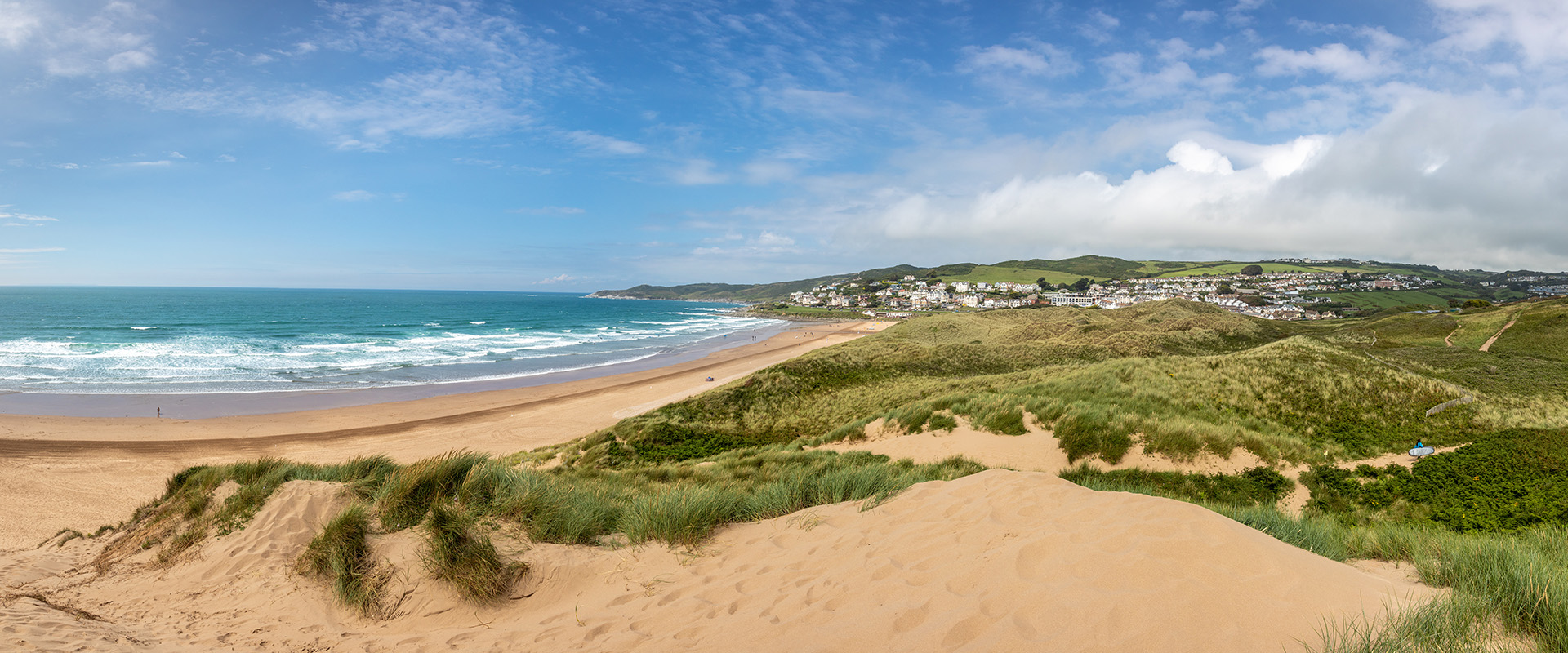 A sunny beach in the South West England