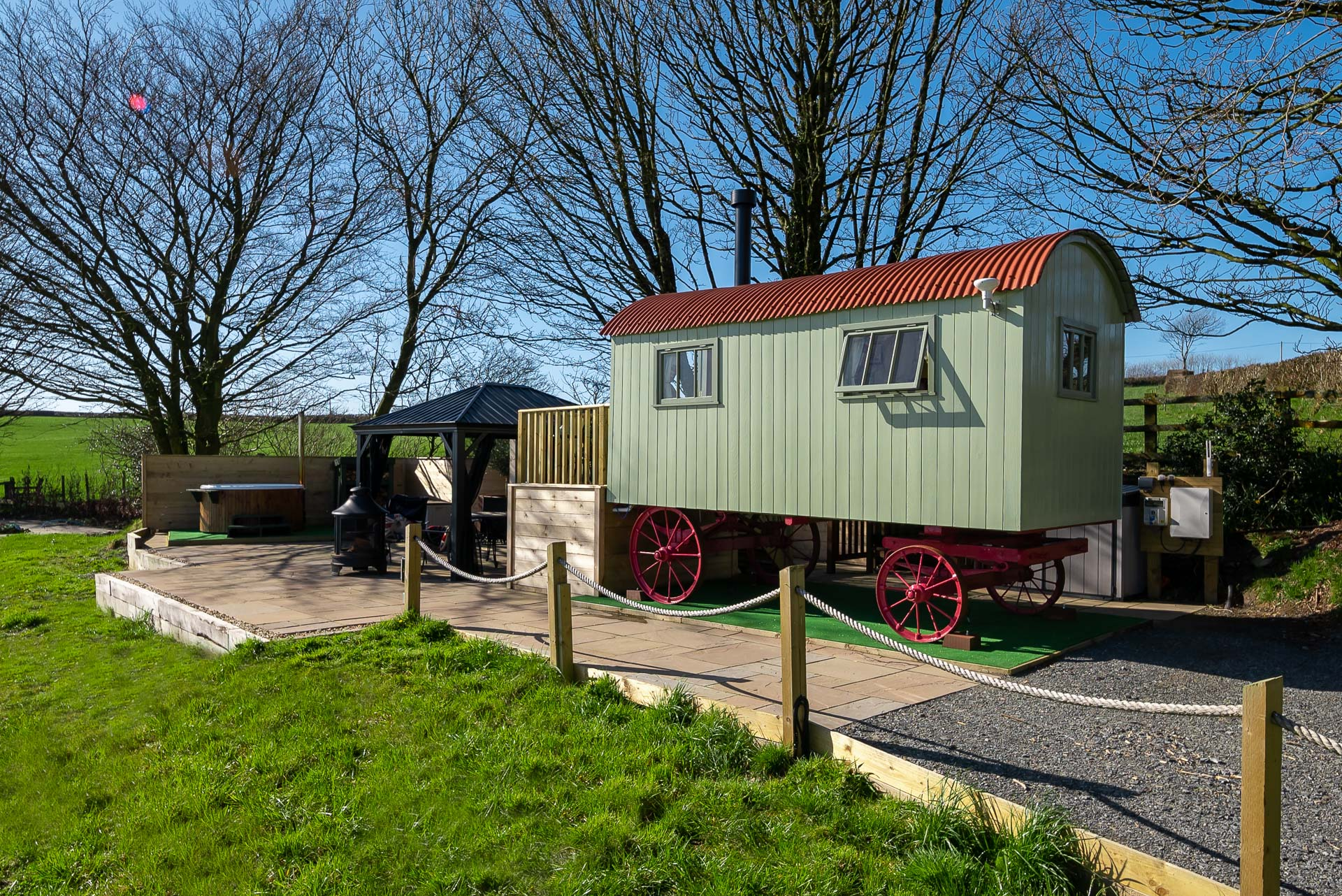 The Shepherd's Hut at Accott Manor