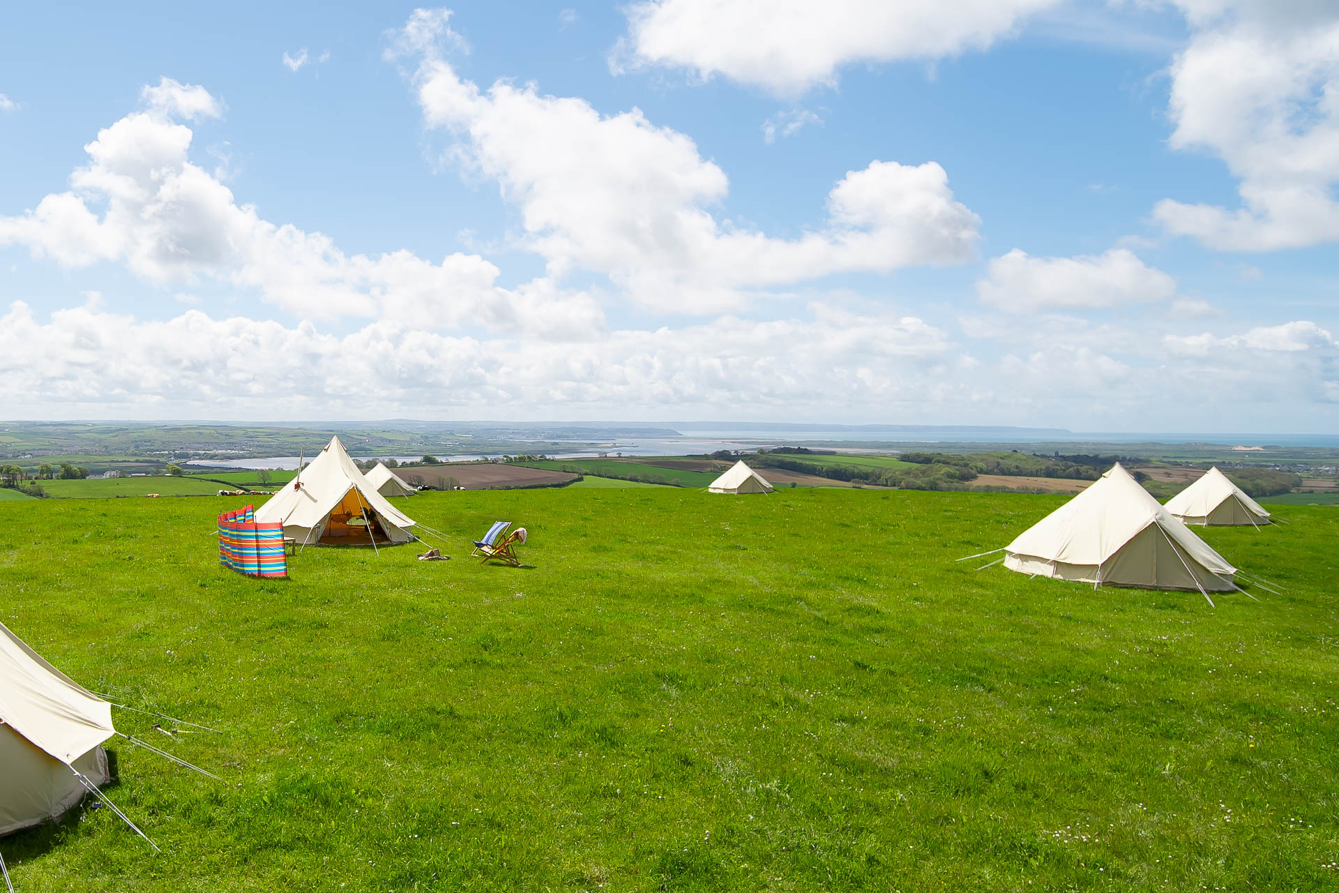 Springfield Bell Tent with log burner