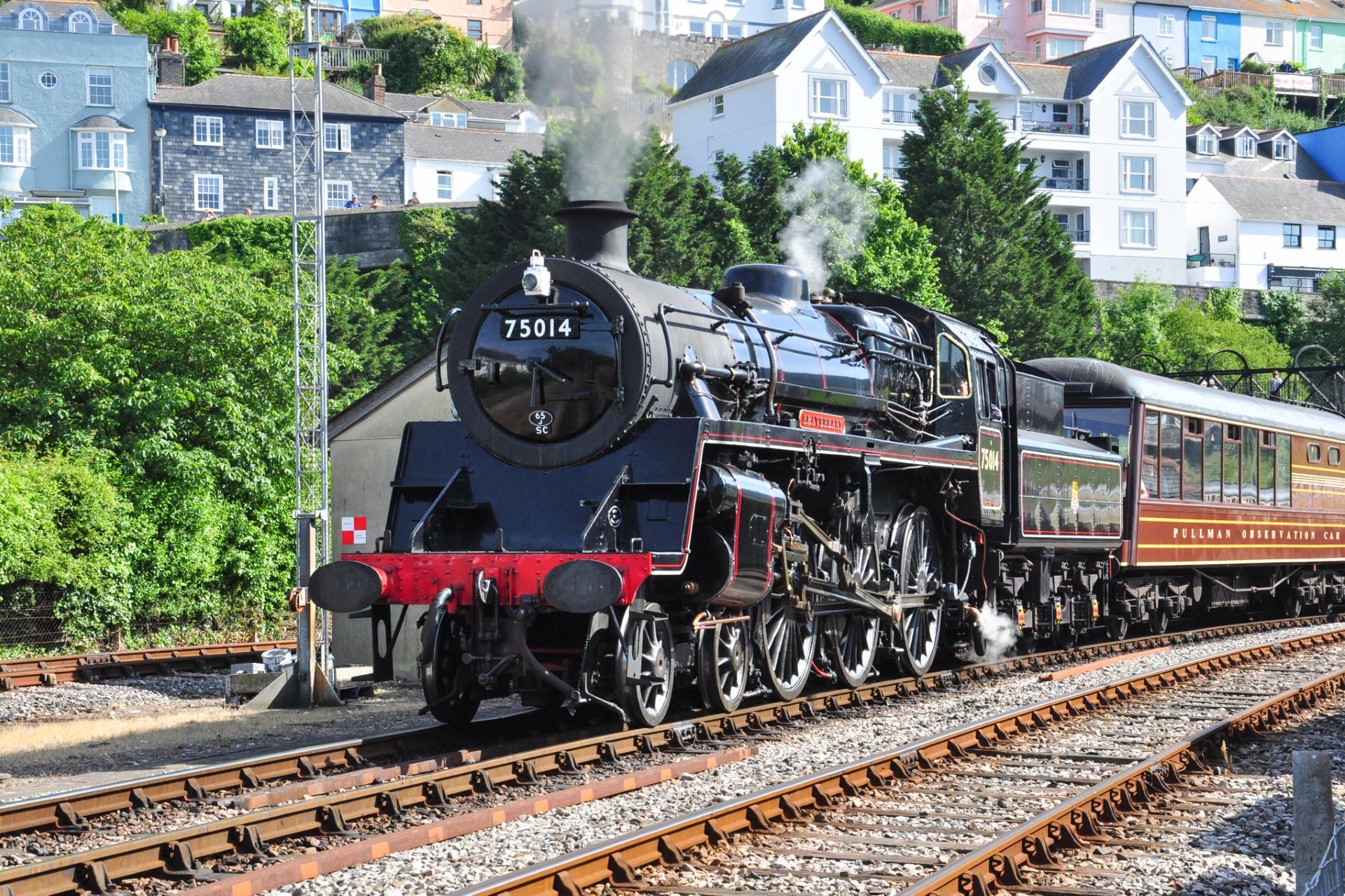 Steam Train going through Dartmouth