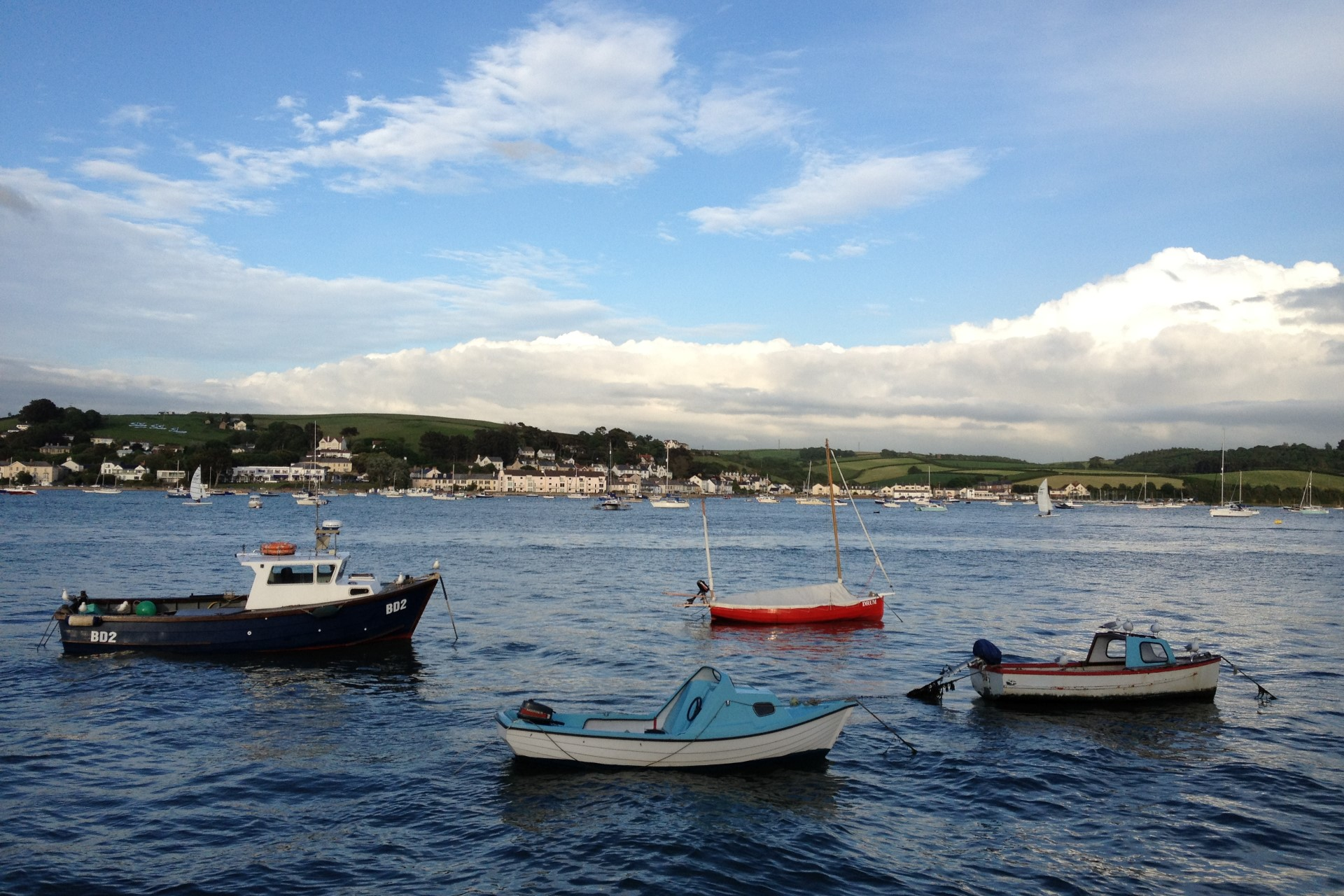 Boats on the estuary in Appledore