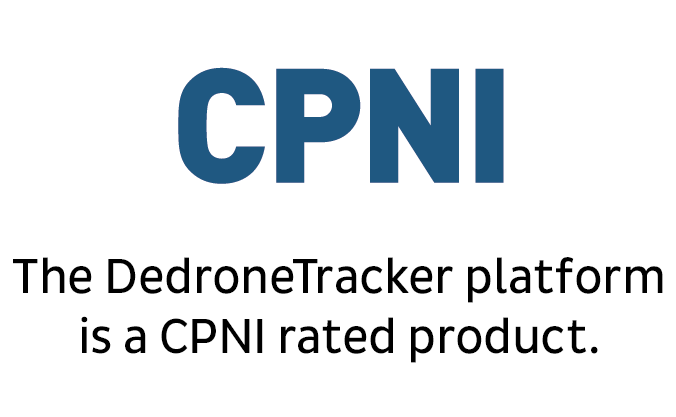 The DroneTracker platform is a CPNI rated product