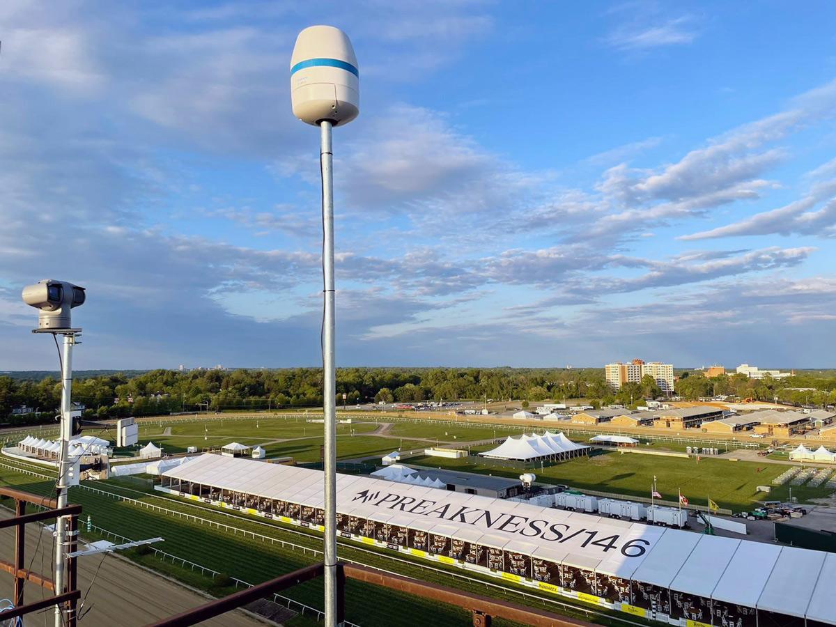 Preakness Race Track Drone Shot
