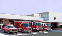 Picture of station 71 and fire trucks