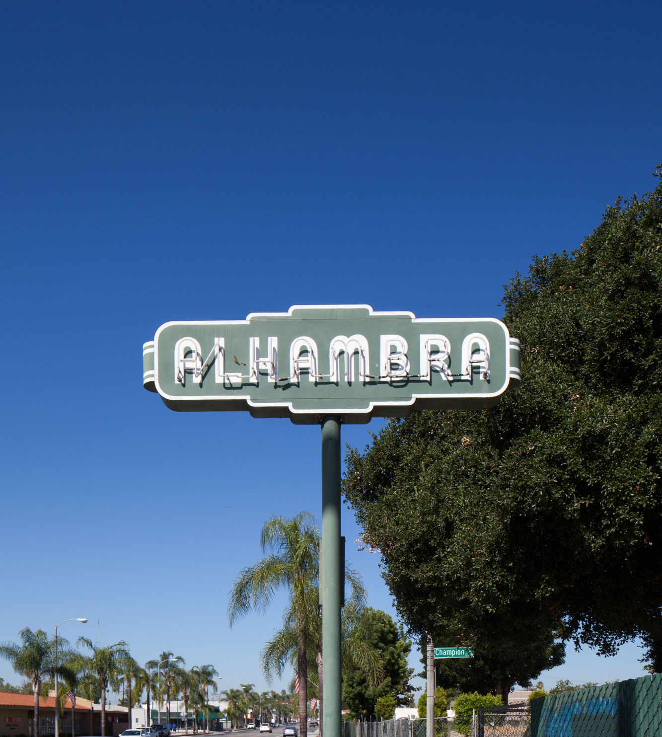 Historic Alhambra Street Sign