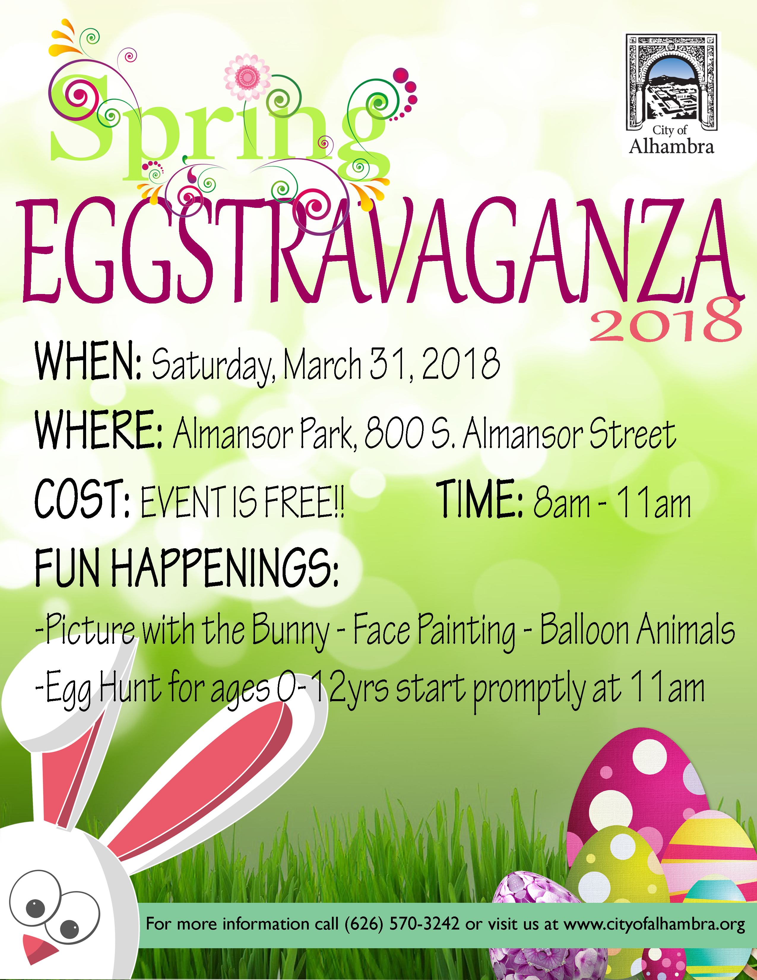 Eggstravaganza 2018, Saturday, March 31, 2018 event flyer image