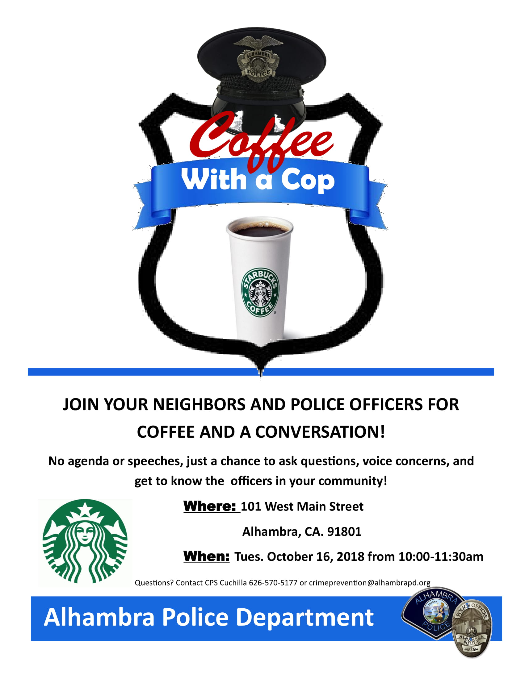 Coffee with a Cop banner image