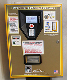 Photo of parking kiosk