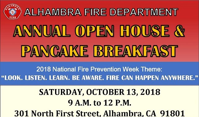 Alhambra Fire Dept Annual Open House & Pancake Breakfast