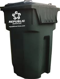 Black Yard Waste Bin