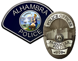 Alhambra Police Department Patch and Badge