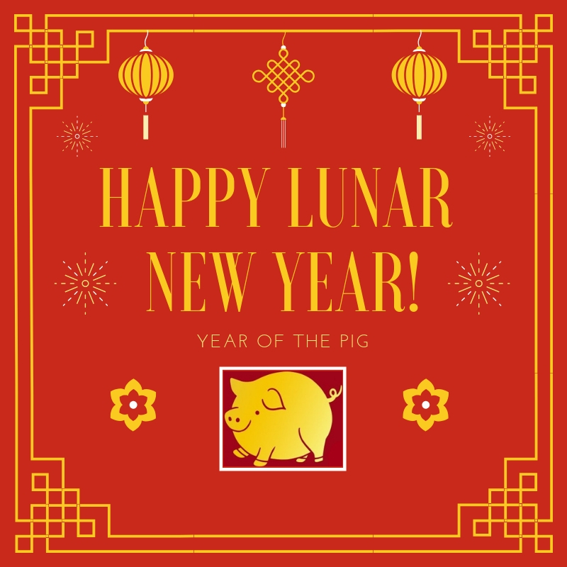 Happy Lunar New Year Year of the Pig