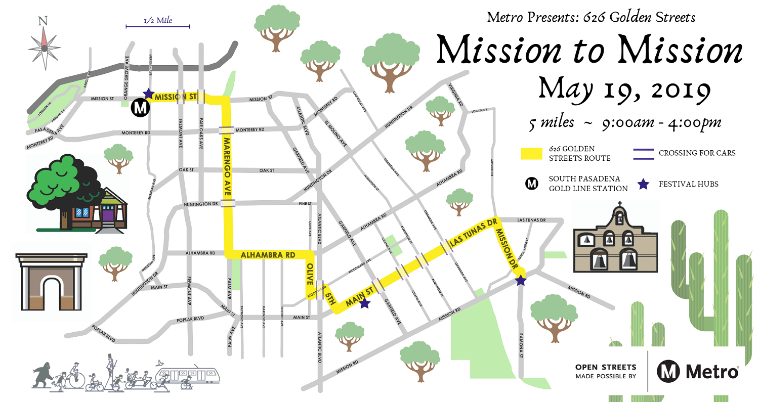 626 Golden Streets Mission-to-Mission Route Map
