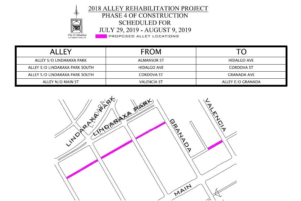 Map of Phase 4 Construction Area