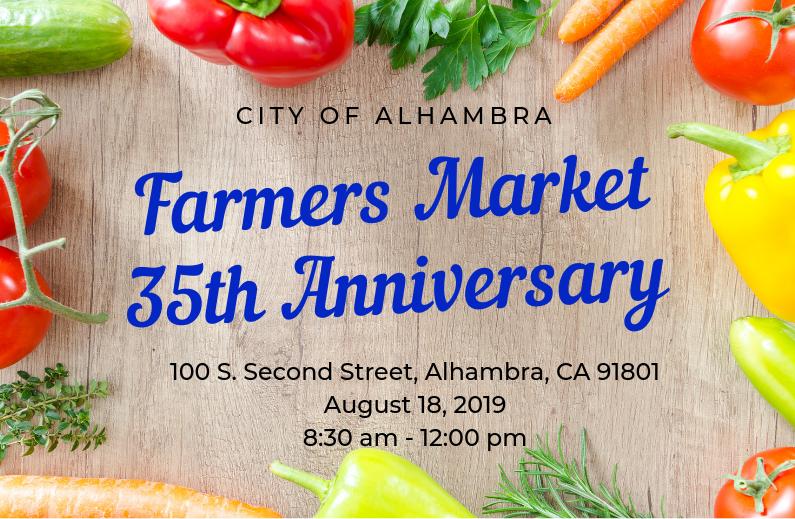 Farmers Market 35th Anniversary Banner