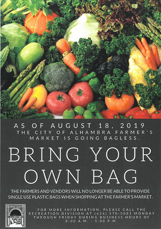 Farmers Market Bring Your Own Bag Reminder