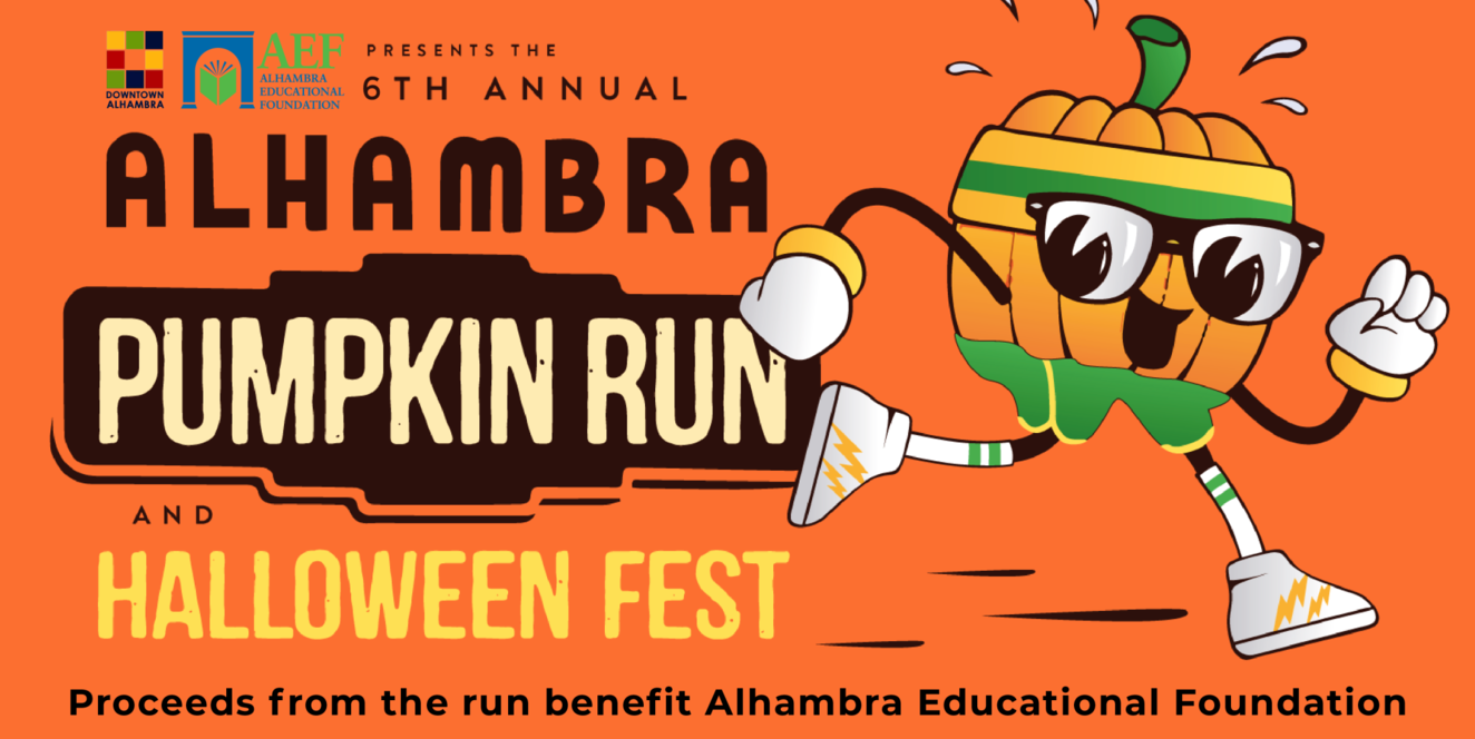 6th Annual Alhambra Pumpkin Run and Halloween Fest Flyer