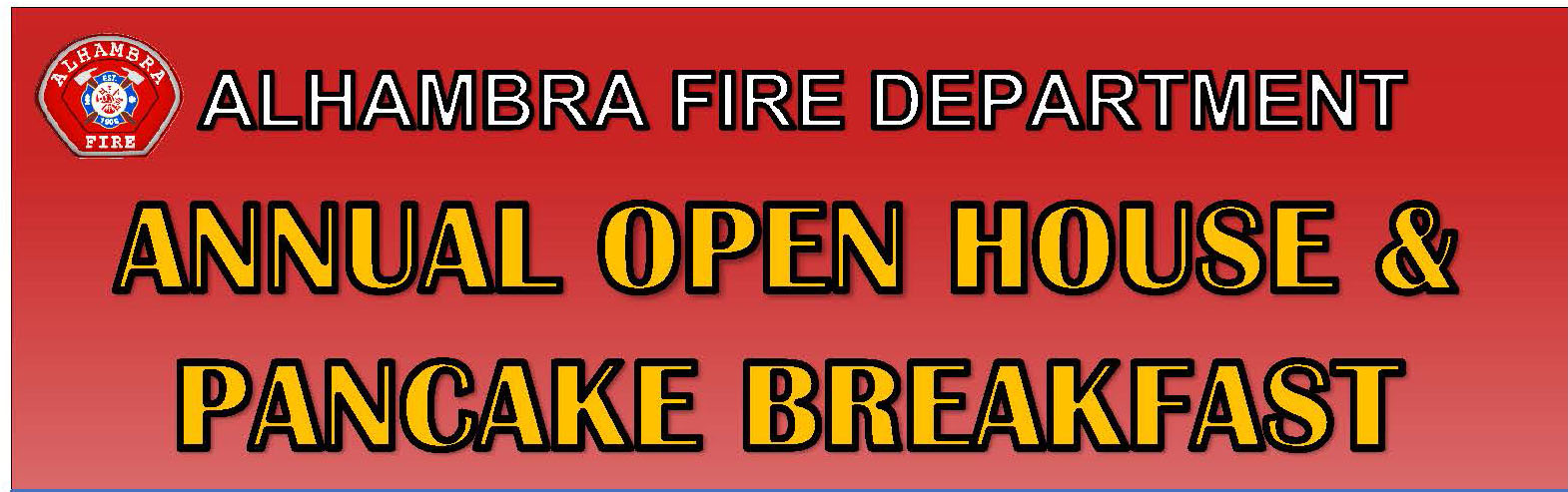 Annual Open House and Pancake Banner
