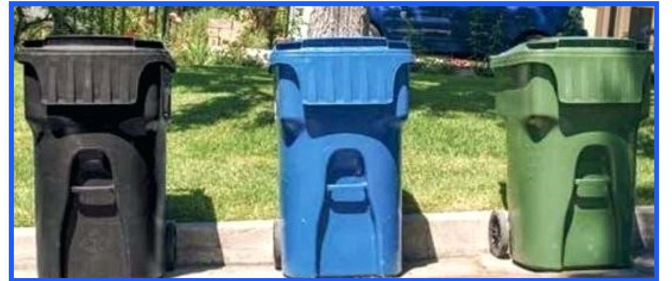 pictures of trash bins