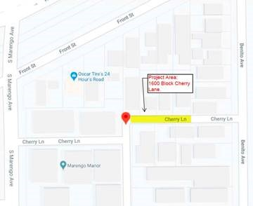 map of construction location