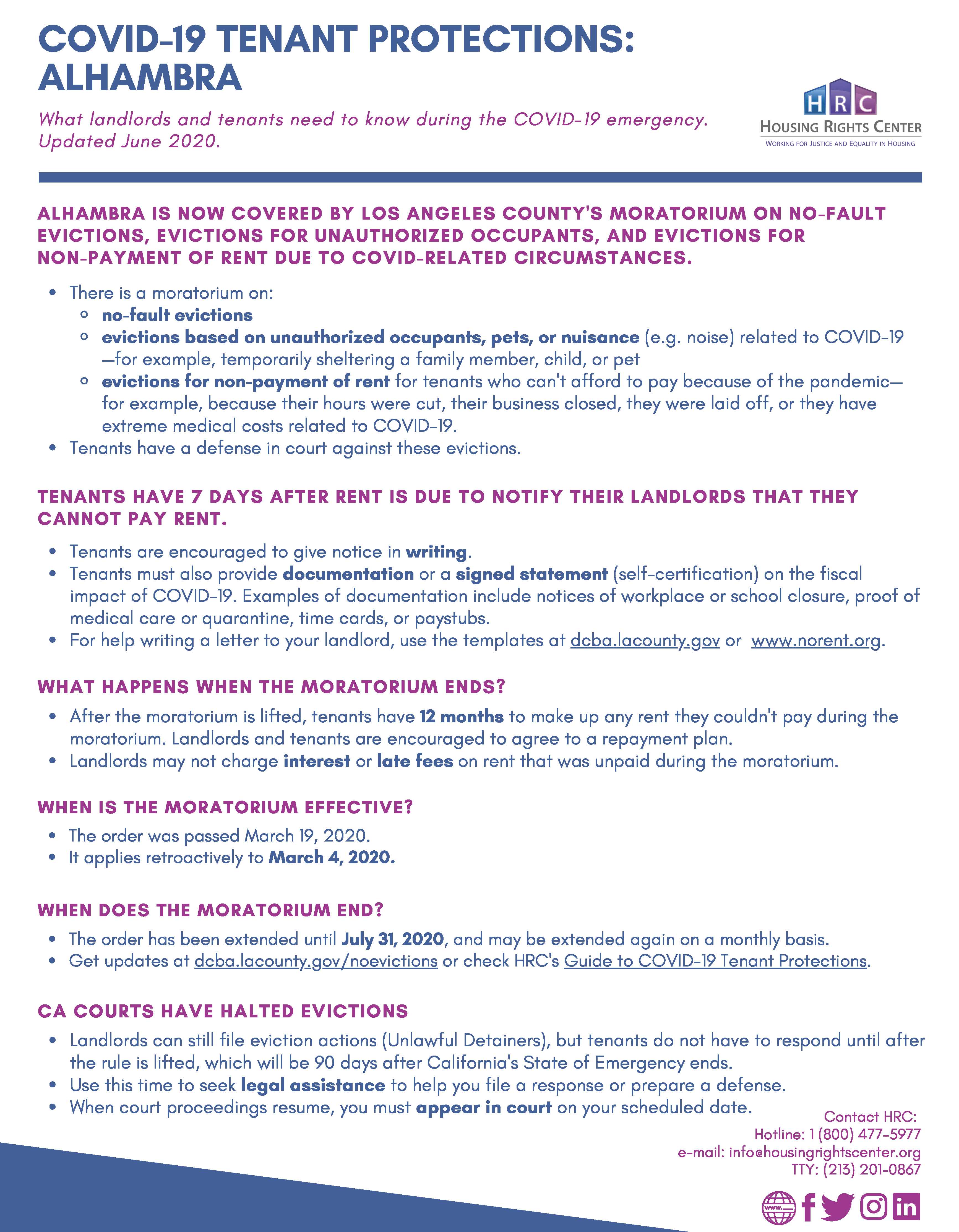 photo of covid-19 tenant protections FAQ