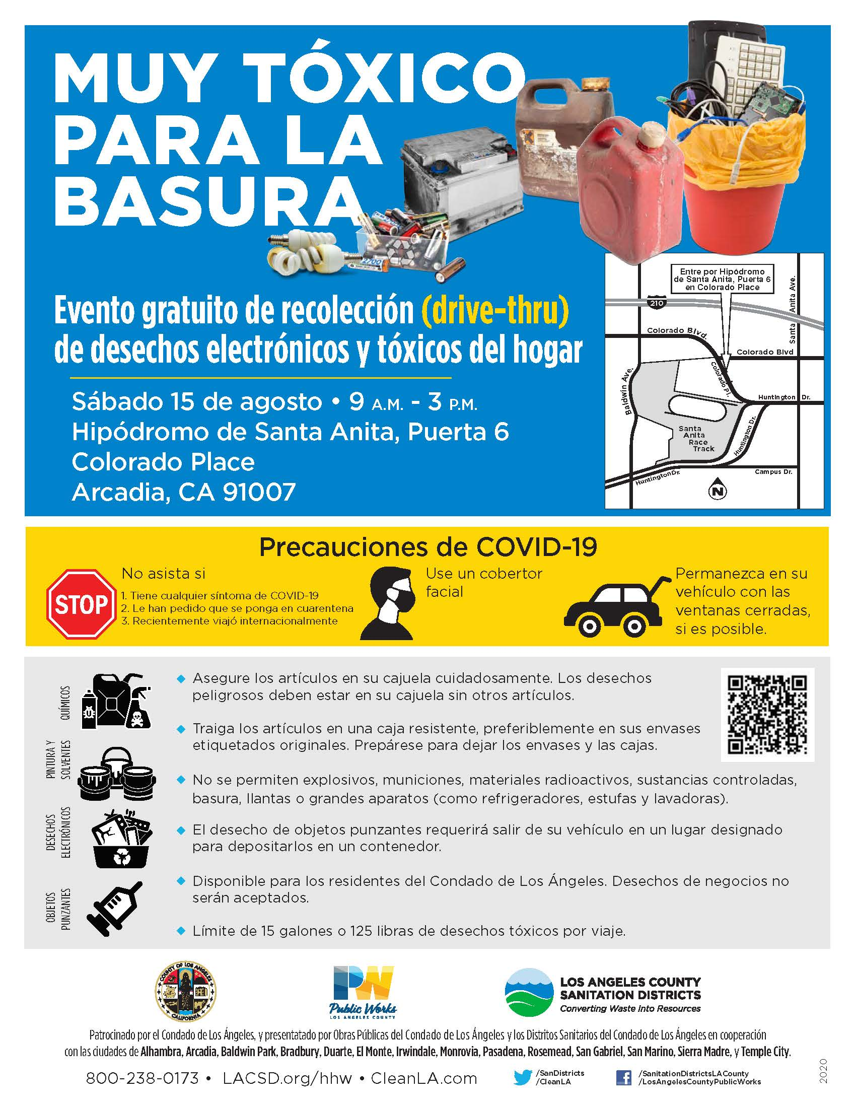 Spanish flyer of event