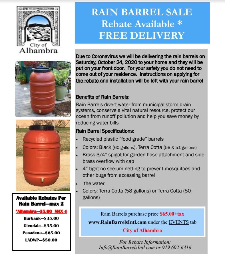 rain barrel sale flyer