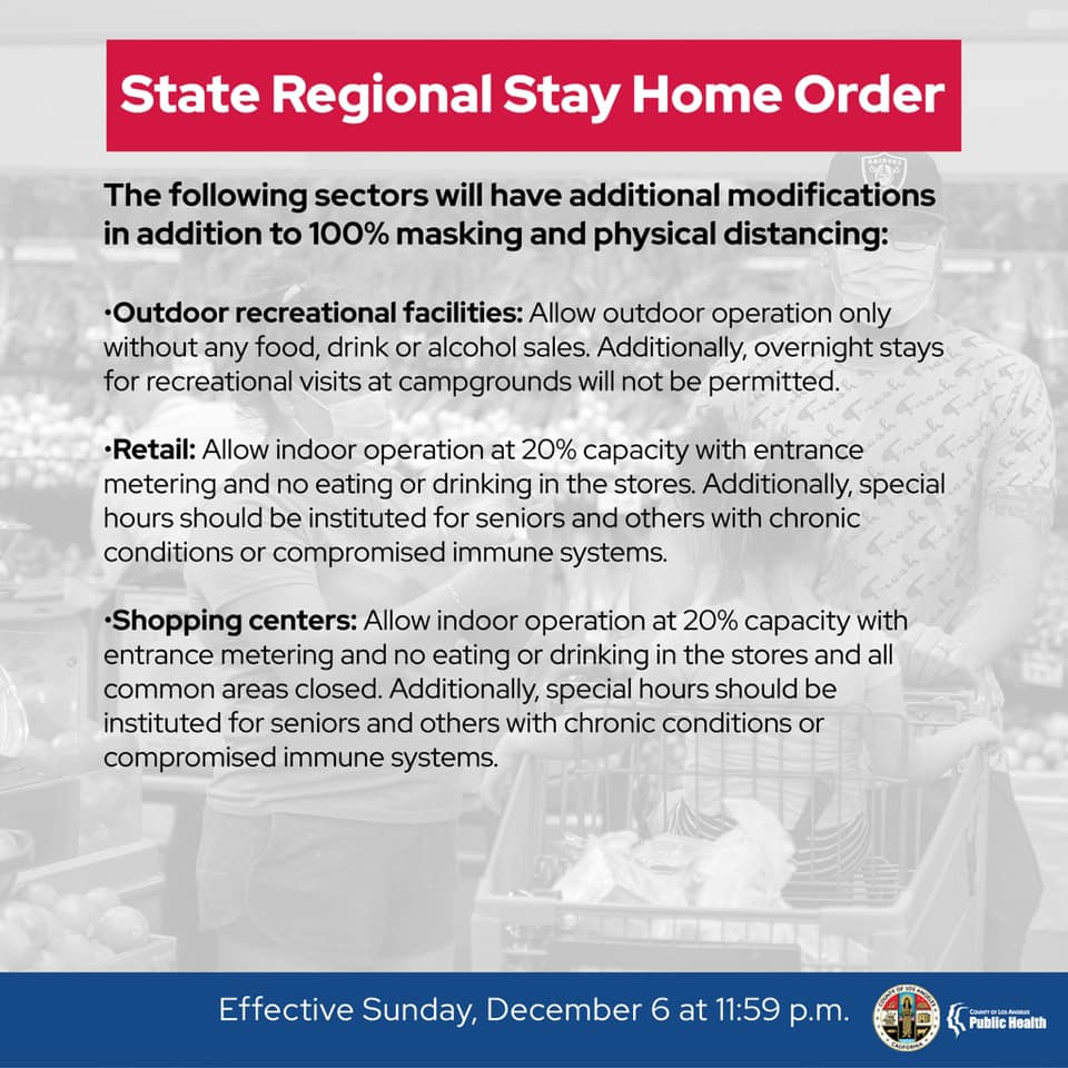 state regional stay home order sector modifications