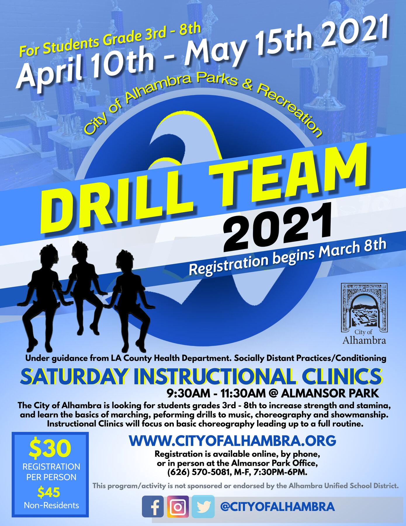 Drill Team 2021 flyer