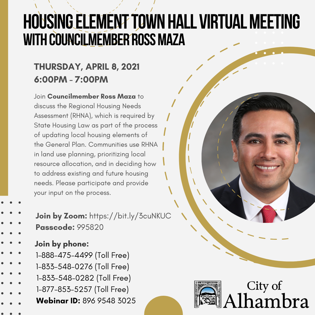 housing element townhall with councilmember maza info