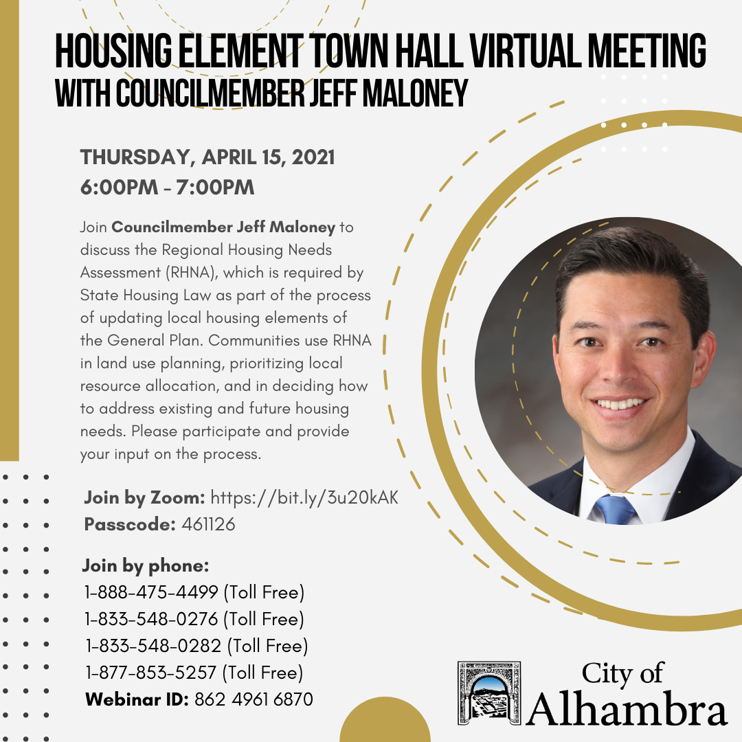housing element town hall with Maloney info