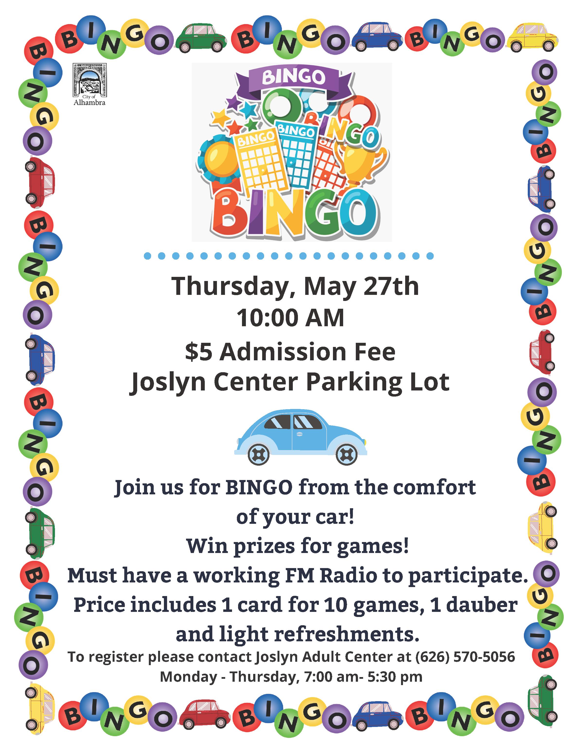 car bingo flyer