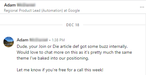 Google Automation LinkedIn Message