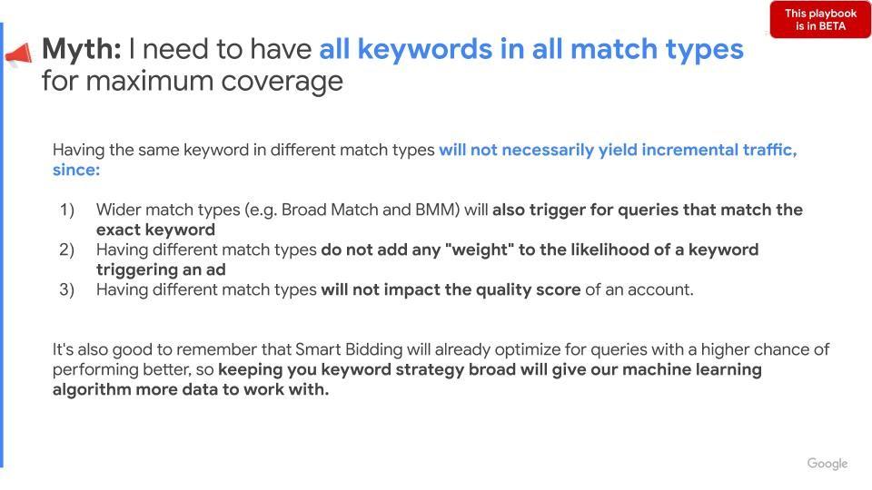 Google Ads Match Type Myth