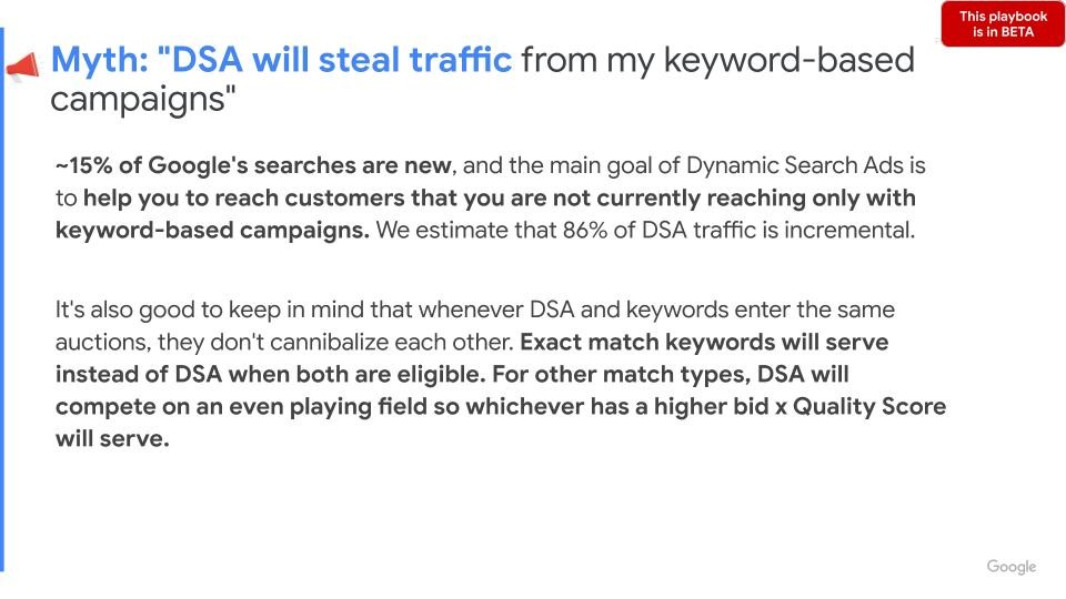 Google Ads Dynamic Search Campaigns Will Not Steal Traffic From Other Campaigns