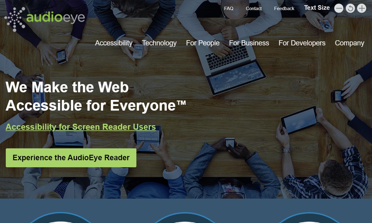 AudioEye homepage circa 2015