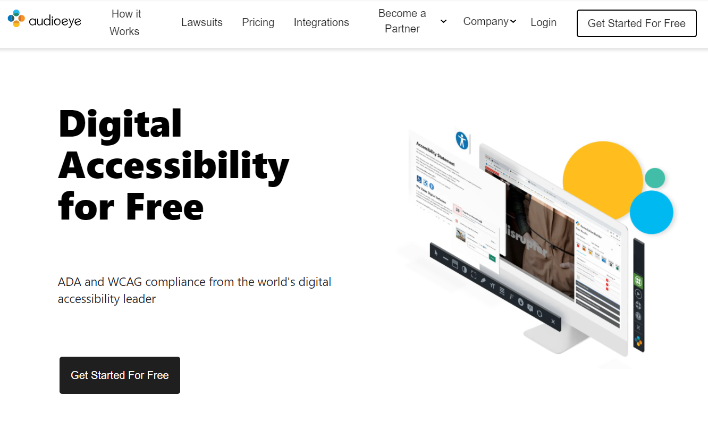 AudioEye homepage circa 2021