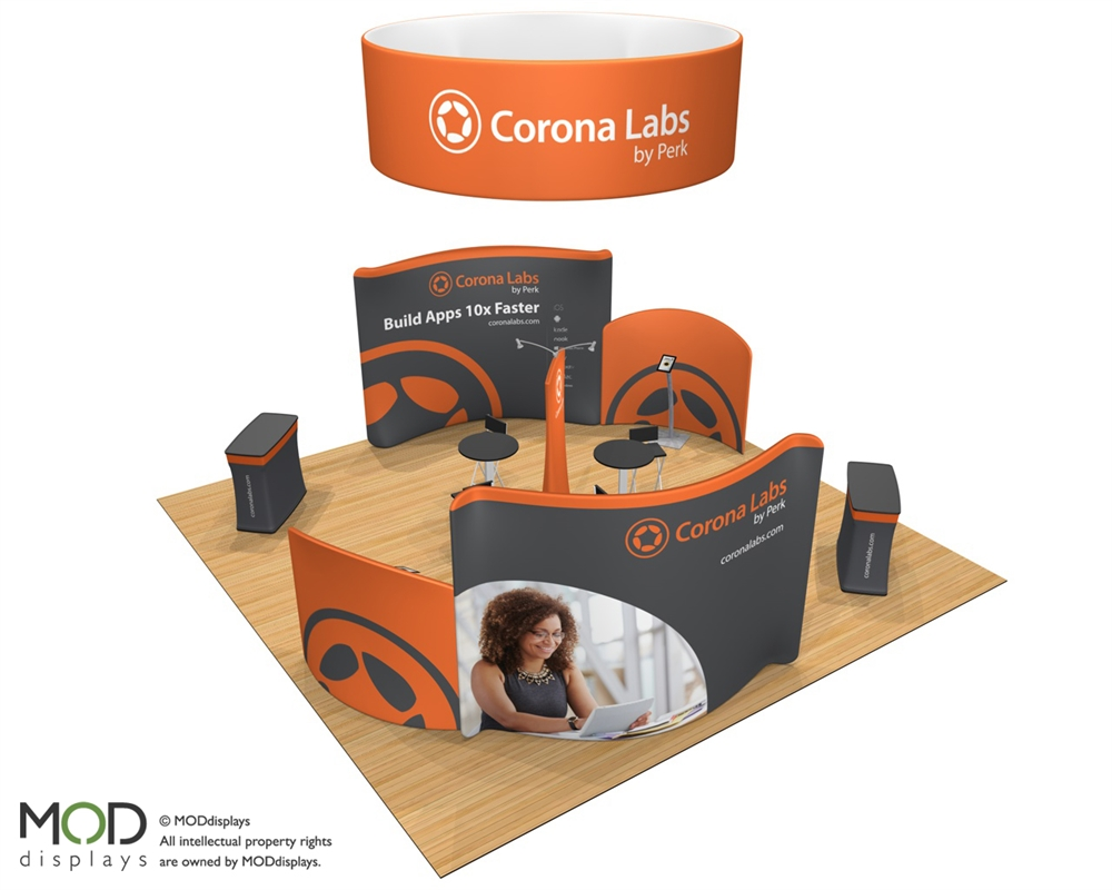 Waveline Media 2020.03 Trade Show Booth