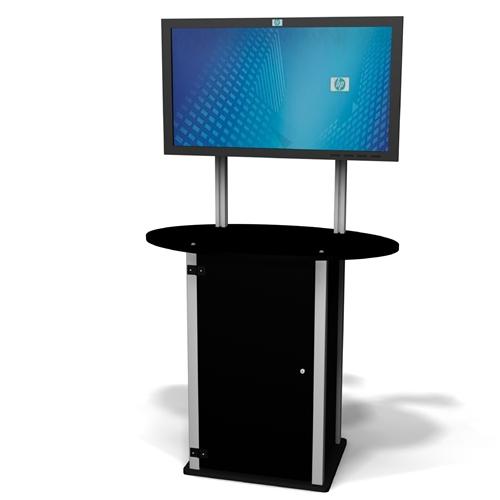 Exhibitline LC1-T2.Plasma Locking TV / Monitor Stand