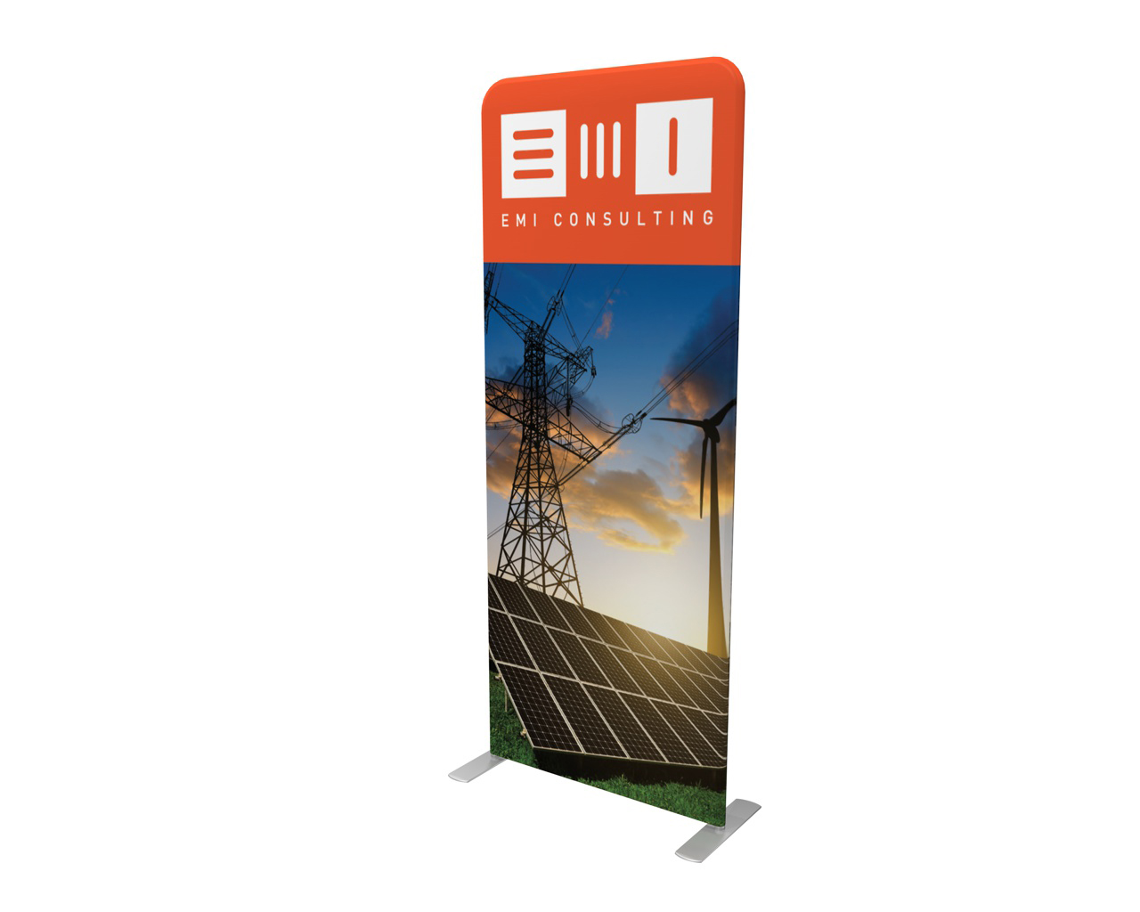 "Waveline 36"" Double-Sided Banner Stand"