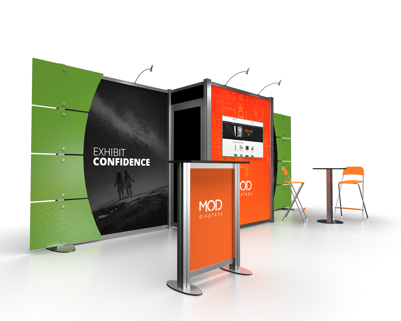 Normal Exhibition Booth Size : Trade show displays booths moddisplays