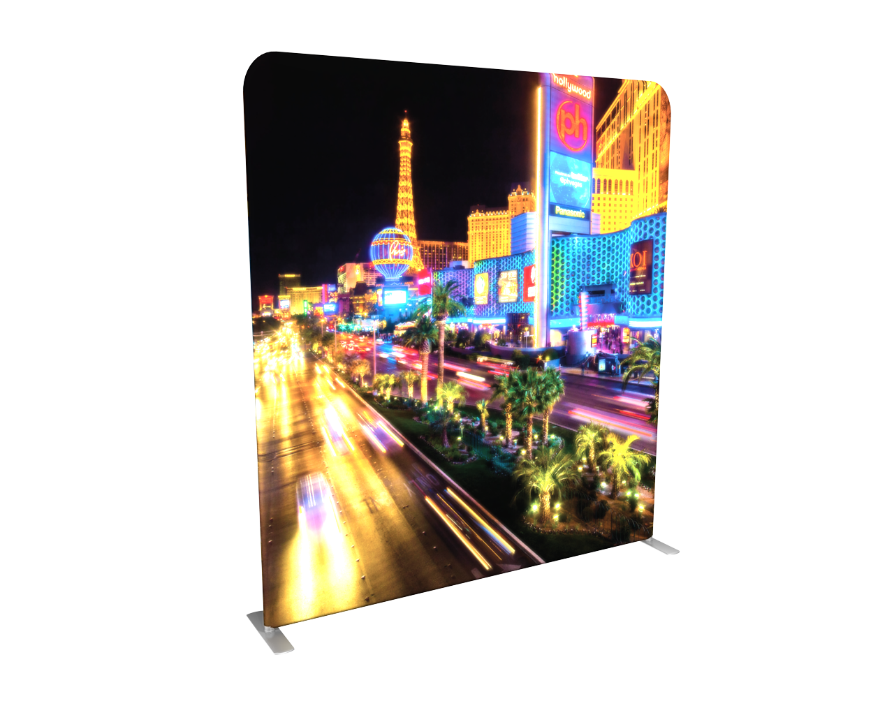 example of backlit tension fabric displays