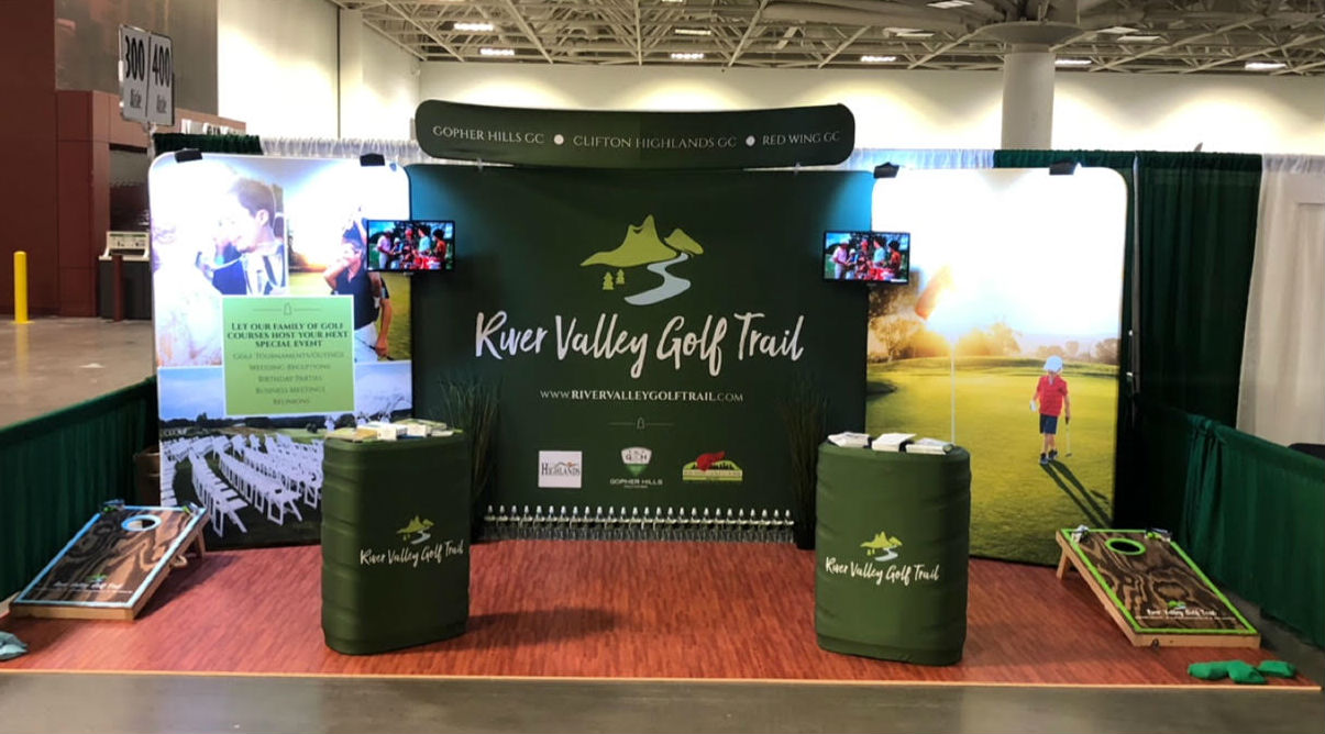 Booth Style #1: Meet and Greet - River Valley Golf Trail