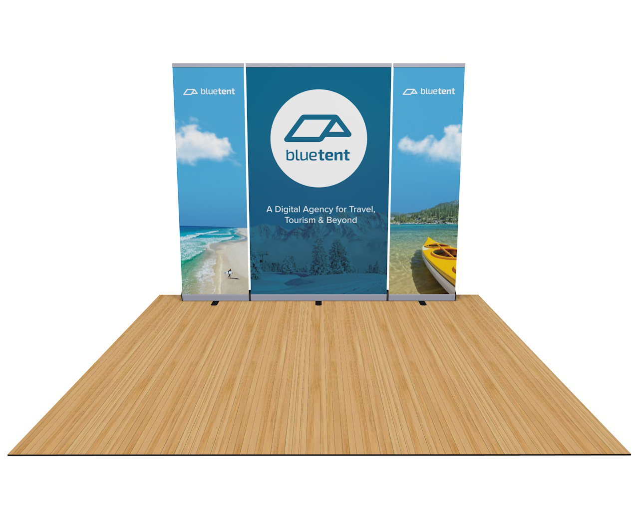 Penta Deluxe Banner Stand 10ft Trade Show Display Wall